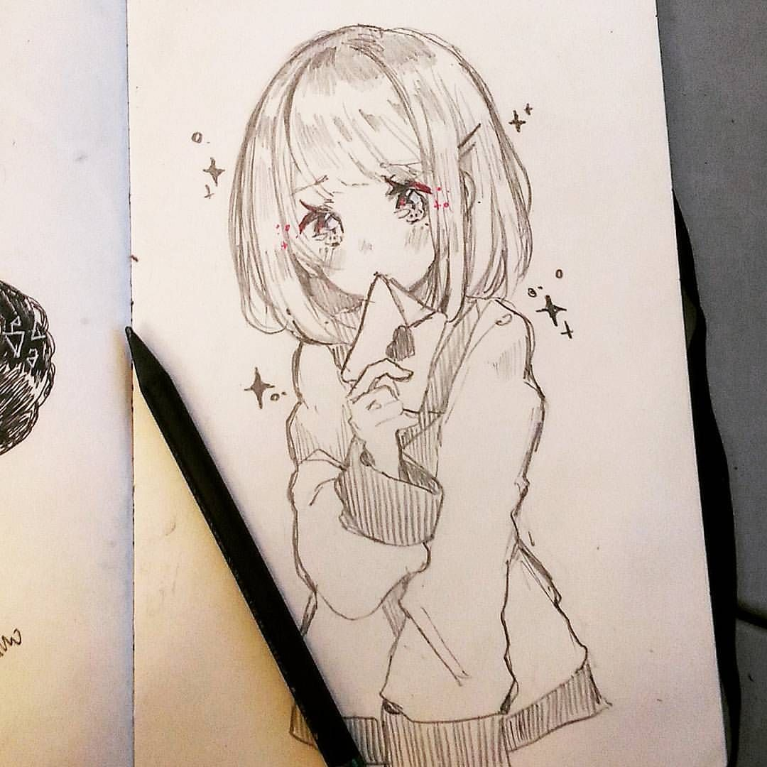 Daily Doodle Anime People Drawings Anime Drawings Sketches Cute Drawings Of People