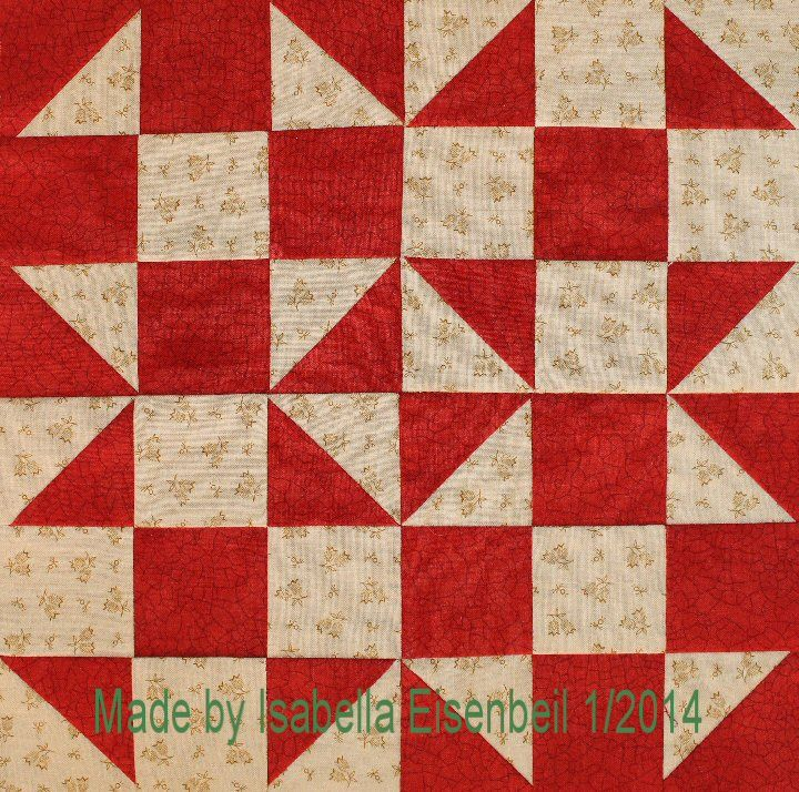 Shoo Fly Quilt Block 2 Made By Isabella Eisenbeil Small Quilts Quilts Quilt Patterns