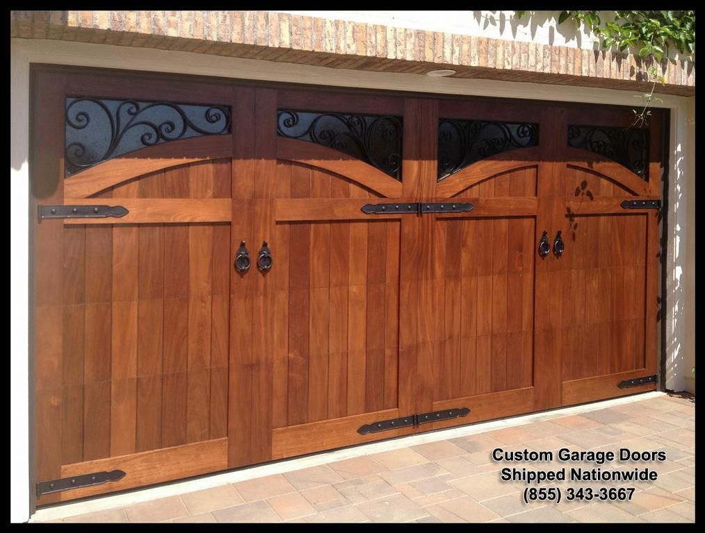 Mediterranean Garage Door Designs In Solid Wood This Door