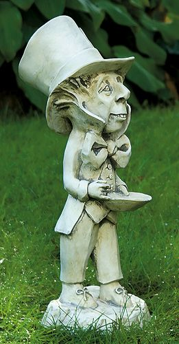 Pin by rose and mags country mile on alice in wonderland - Alice in wonderland garden statues ...