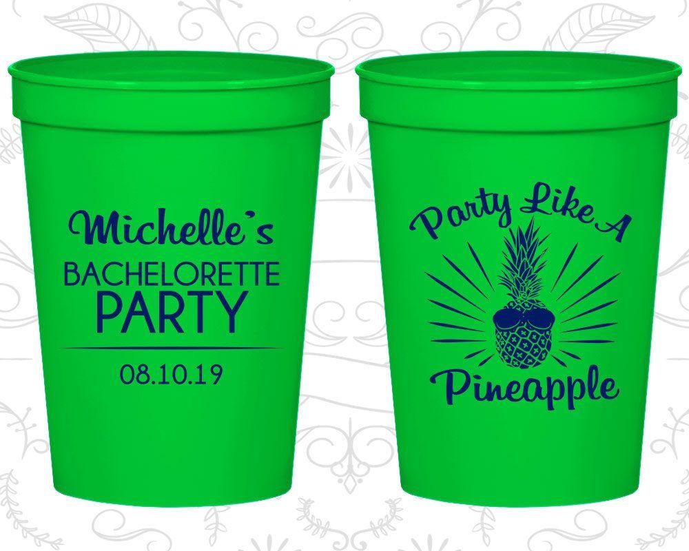 Plastic Party Cups Fun Bachelorette Favors Party Cups Bachelorette Favors Bachelorette Party Cups Rockin the River Bachelorette 1392
