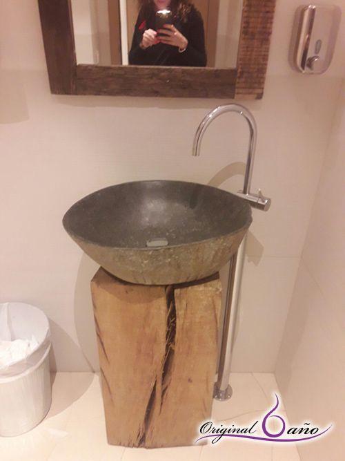 Brick Lavabo de lavabo peque/ño suspendido de cer/ámica 54 x 20 cm
