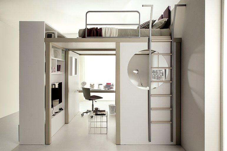 schlafzimmer f r jugendliche tiramolla 173 by tumidei design marelli e molteni bedroom loft. Black Bedroom Furniture Sets. Home Design Ideas