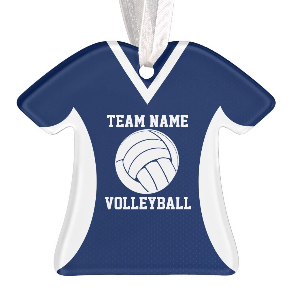 Volleyball Sports Jersey Blue Ornament Zazzle Com Sports Volleyball Volleyball Jerseys