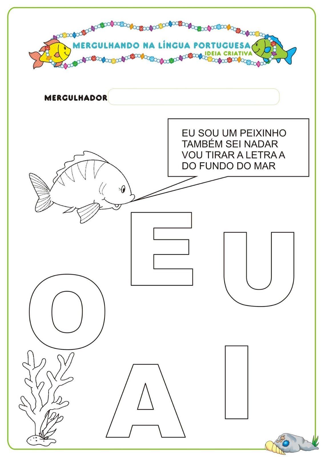 Caderno De Atividades Lingua Portuguesa Projeto No Fundo Do Mar
