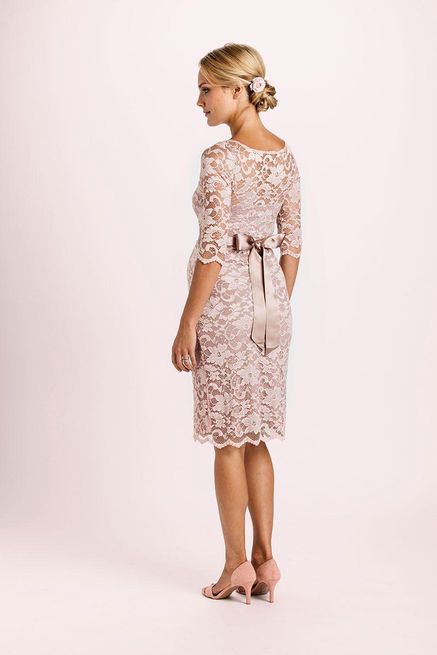 Spitzen Umstandskleid mit Schärpe rosé   Kleider ...