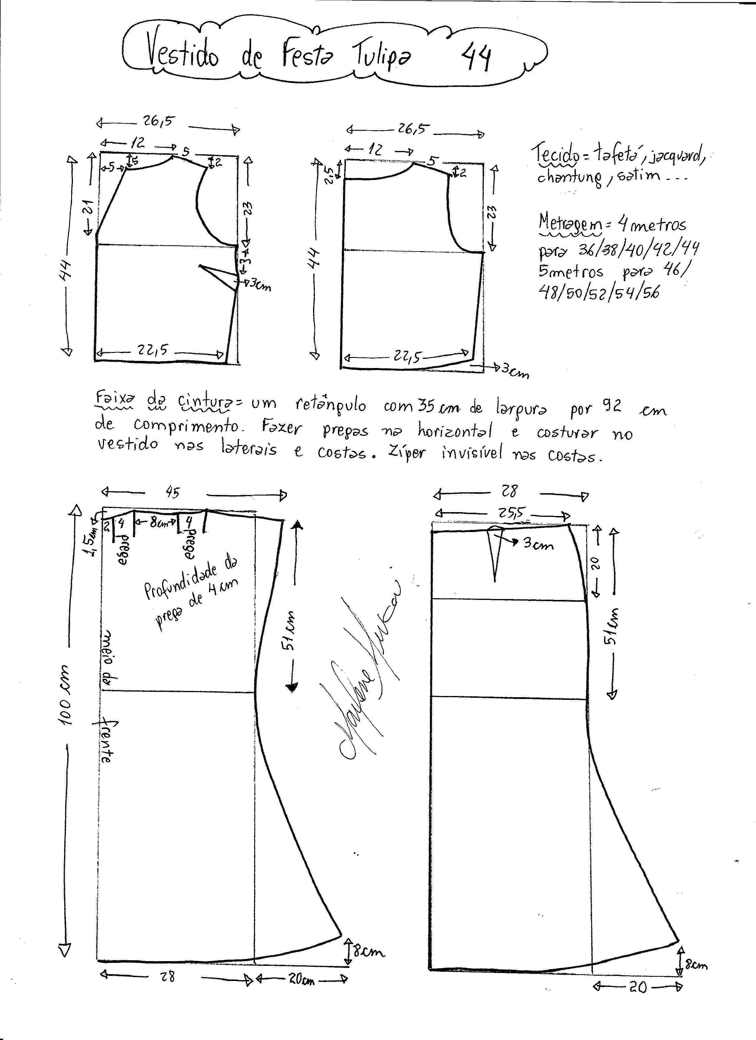 vestidofestatulipa-44 | Costura | Pinterest | Patrones, Costura y ...