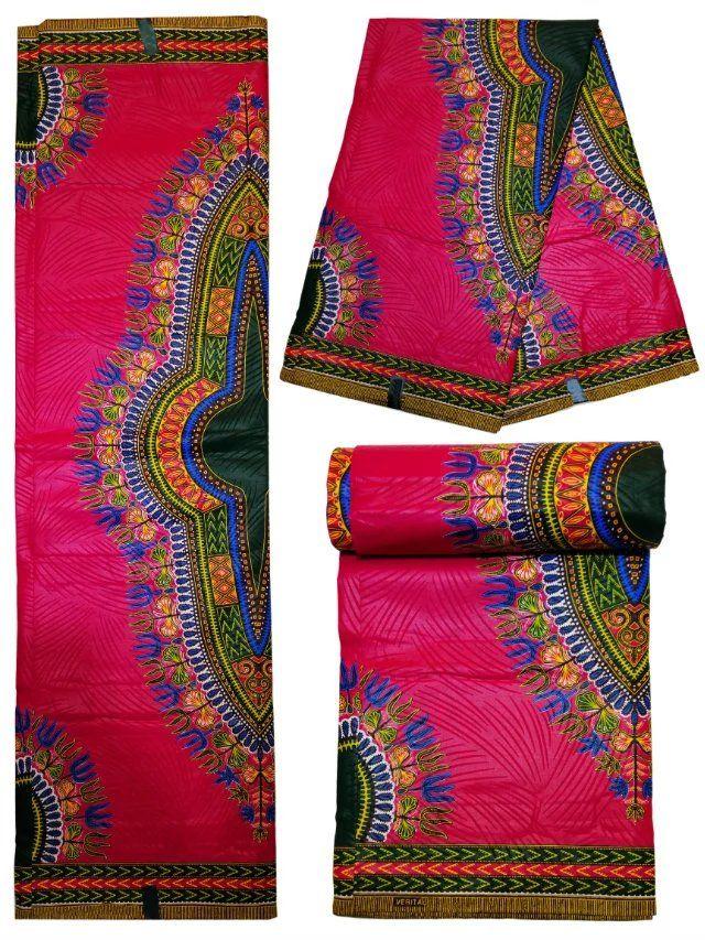 Factory price purple printed African dashiki wax fabric cotton old ...