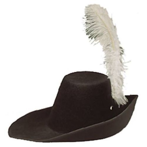 989b0398fed Permafelt Cavalier Hat - 1600s 1700s Style Musketeer Hat with Plume ...