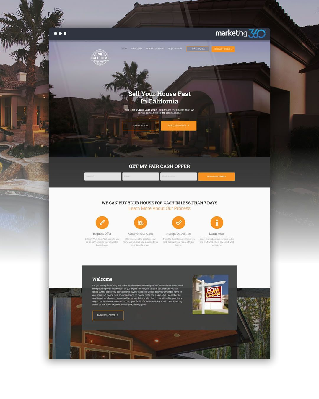 Real Estate Website Design Of The Day By Real Estate Marketing 360 Handcrafted By Beka Real Estate Website Design Sell Your House Fast Real Estate Marketing