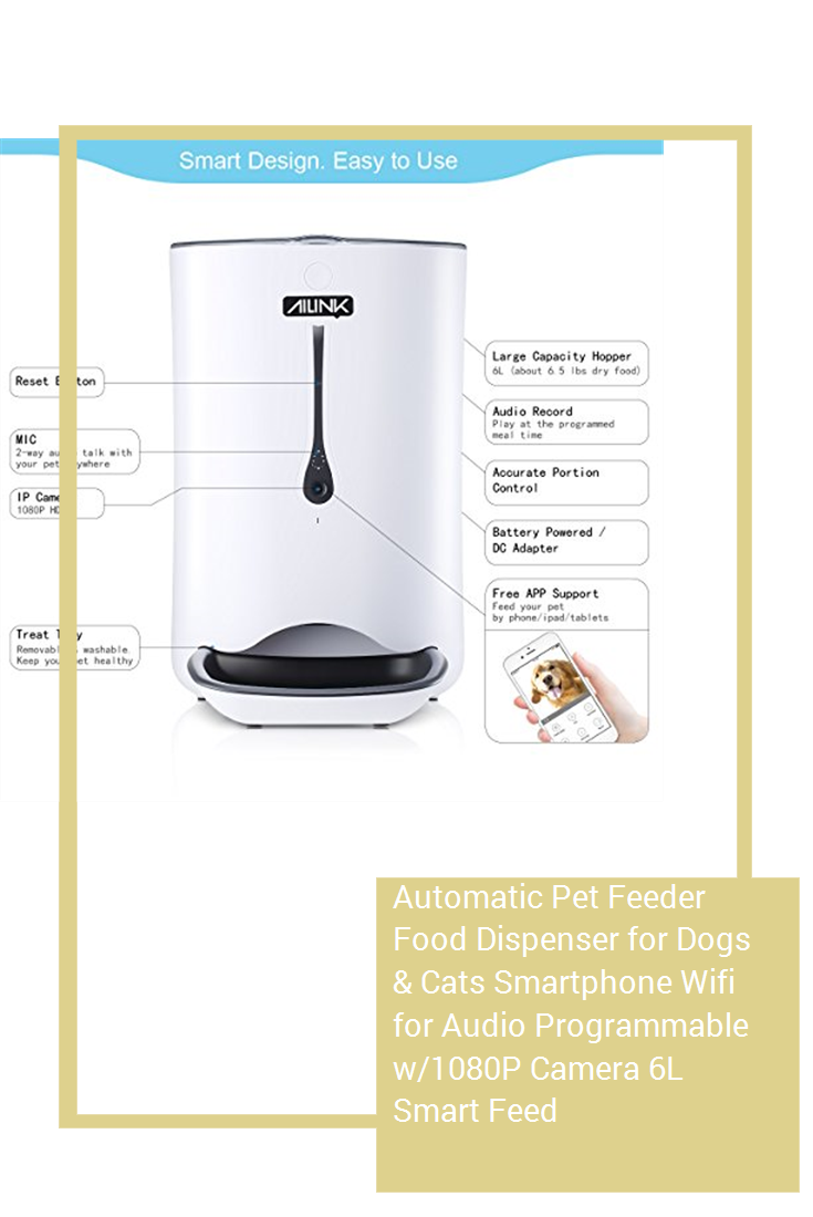 Automatic Pet Feeder Food Dispenser for Dogs & Cats