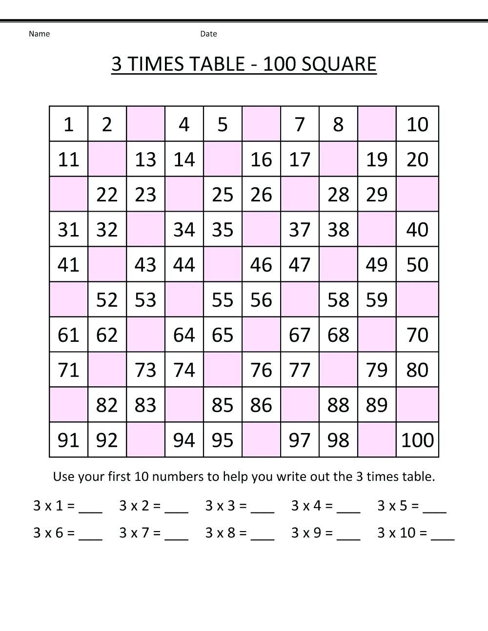 50+ Entertaining times tables worksheets pdf information