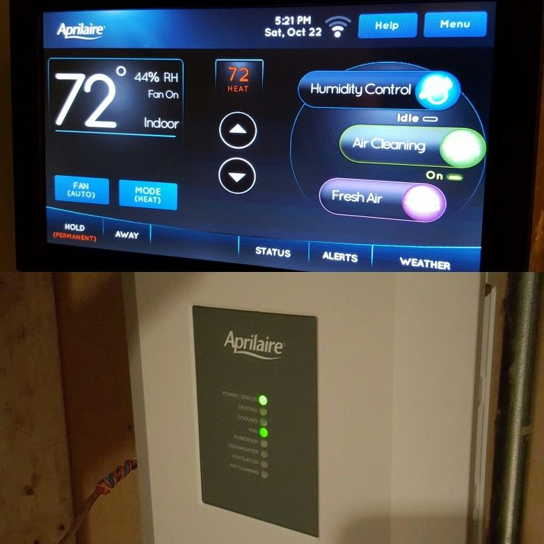 Aprilaire 8920w Wi Fi Color Touchscreen Universal Thermostat And