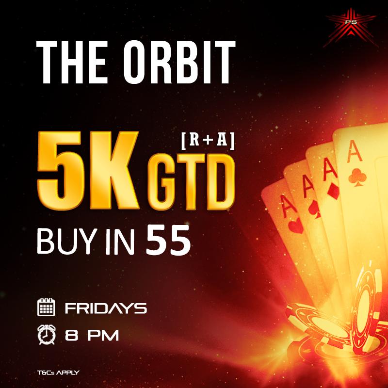 The Orbit 5K GTD Poker hands rankings, Poker, Online poker