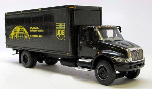Dcp Ups International 4400i Box Truck United Parcel Service Old Logo World Dcpcastpromotions