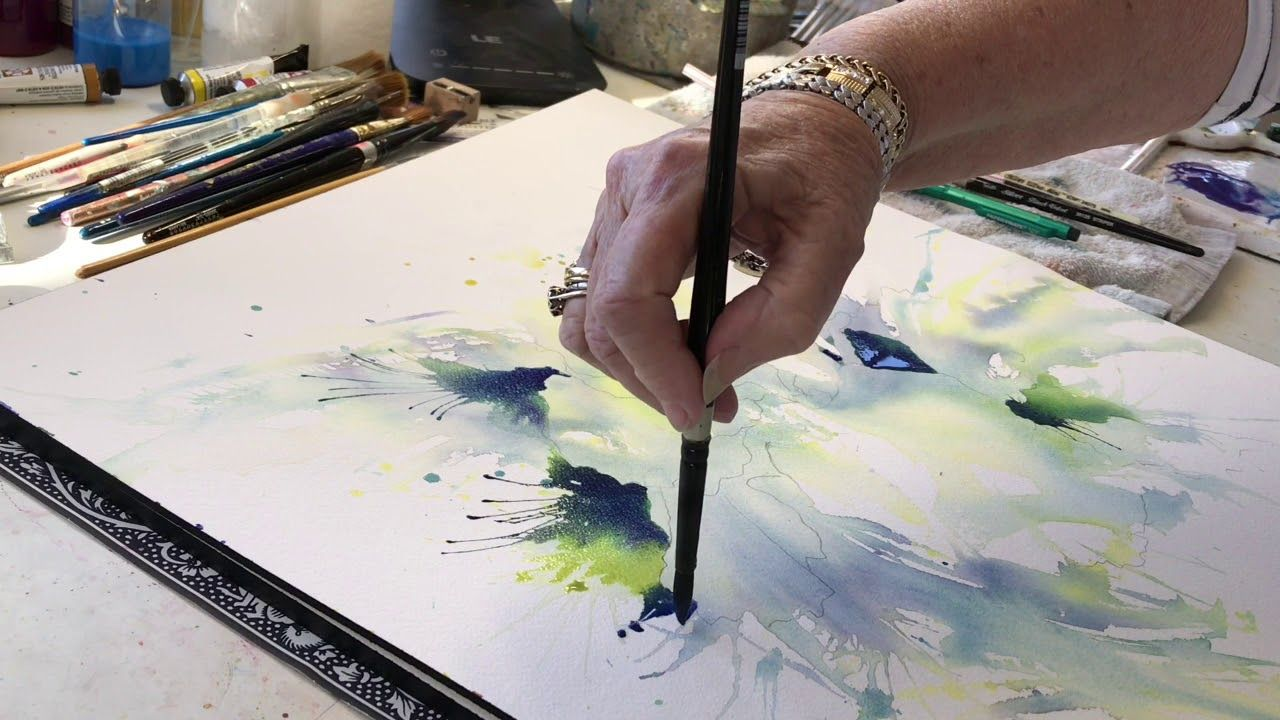 Watercolor Demo With Rae Andrews Youtube Loose Watercolor