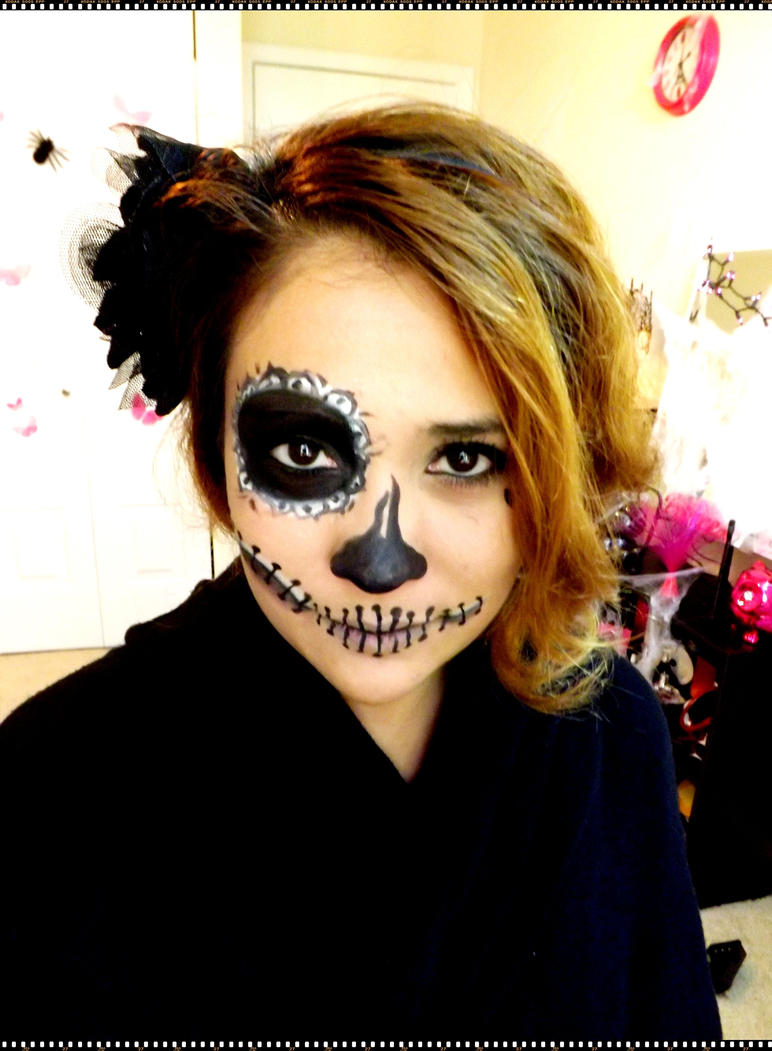 Maquillaje facil para Halloween Maquillaje de catrina