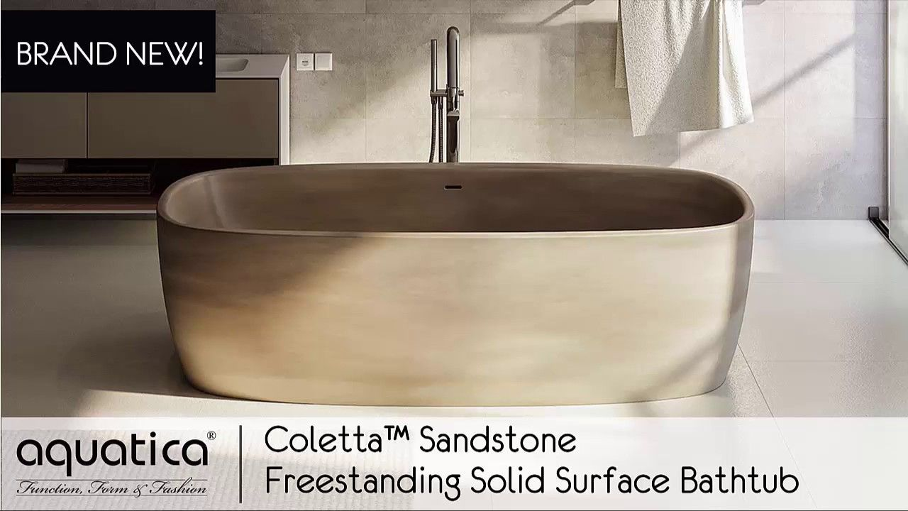 Aquatica Coletta Sandstone Freestanding Solid Surface Bathtub