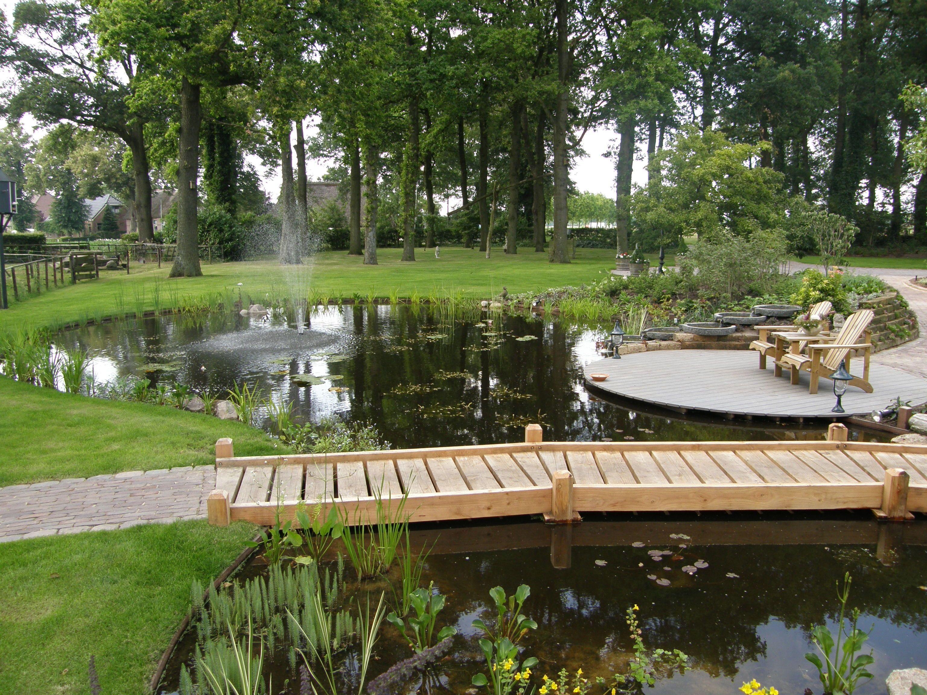 Landelijke vijver 3s tuinen olst tuinontwerp for Tuin en vijver
