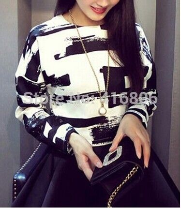 Find More T-Shirts Information about New Arrival Street Style Jewel Neck Long Sleeves Abstract Printed Casual Top For Women Stylish Design T Shirt Women Clothing,High Quality sleeve sweater,China sleeve notebook Suppliers, Cheap top 20 christmas presents from Chinabestdeals on Aliexpress.com