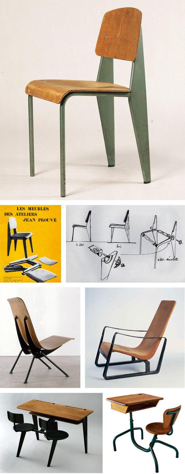 chaise standard fauteuil l ger fauteuil cit bureau d 39 cole bureau d 39 enfant jean prouv. Black Bedroom Furniture Sets. Home Design Ideas