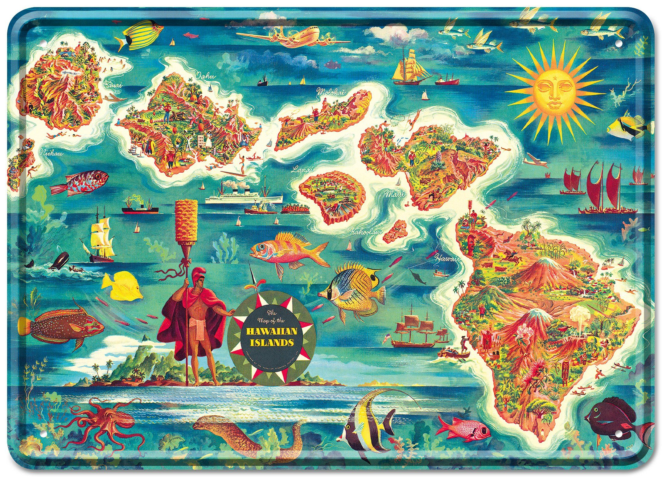 Love this illustrated map of Hawaii | Travel | Hawaii ...