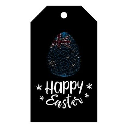 Happy easter and easter egg with australian flag gift tags happy easter and easter egg with australian flag gift tags australian flags negle Gallery