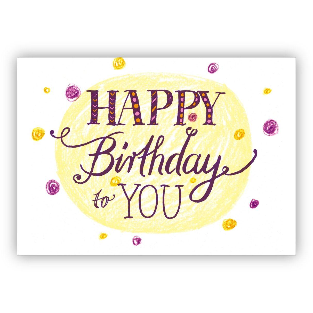 NEU Geburtstagskarte /& Umschlag Grußkarte Geburtstag Happy Birthday Spaß Karte