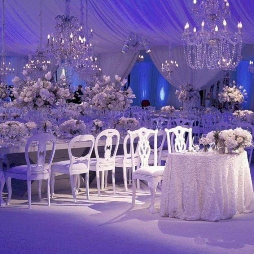 42 Spectacular Winter Wonderland Wedding Decoration Ideas