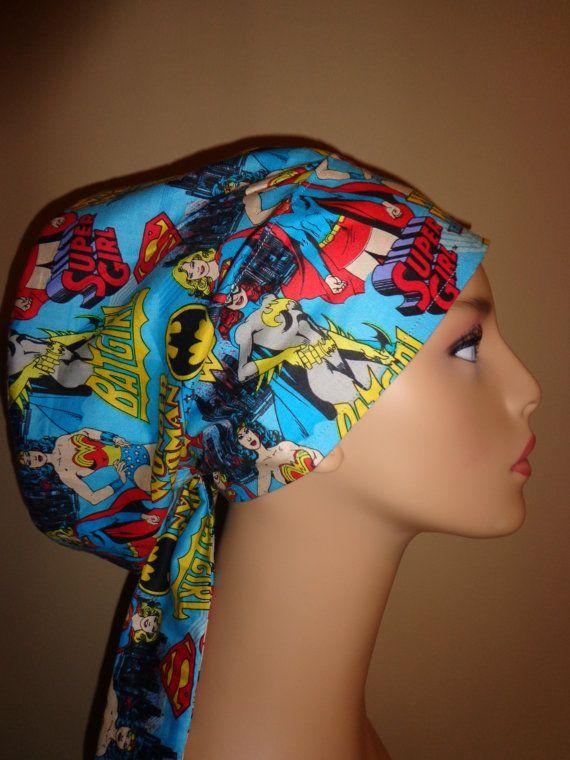 super girl hero hair wrap scrub