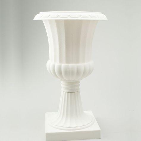 Tall Pedestal Plastic Planter Urn Off White 20 Inch Plastic Planter Fresh Flowers Arrangements Pomander Balls