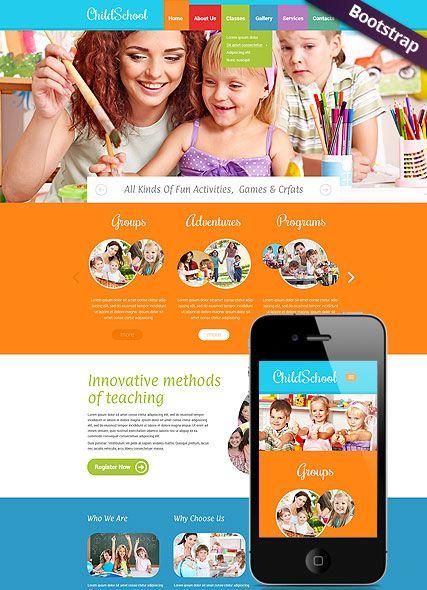 Children School website template bootstrap mobile responsive website ...