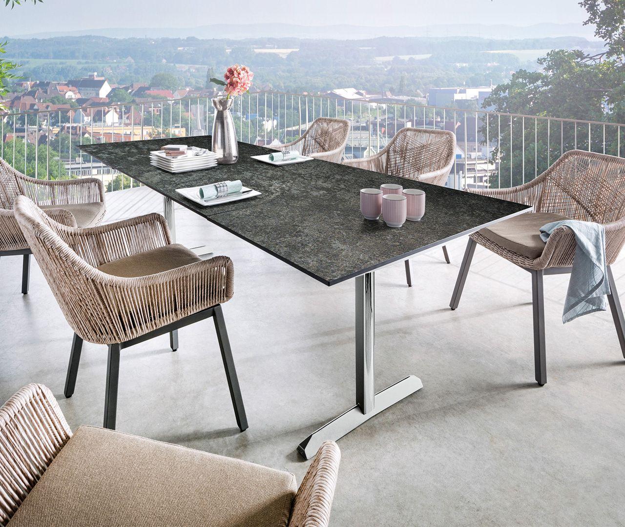 Auszugstisch Garda 160x95 Gartentisch Gartenmobel Tisch
