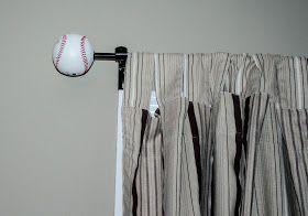 Diy Baseball Finials Baseball Themed Bedroom Baseball Nursery