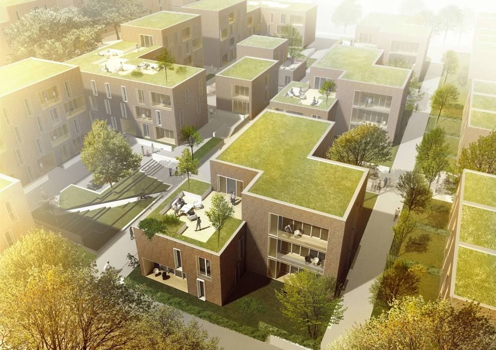 Invited competition: 1st prize Housing, senior housing, student housing and apartments, Lübeck, Germany. 2013, 20.000 m2 By Danish architect firm DISSING+WEITLING  WE architecture