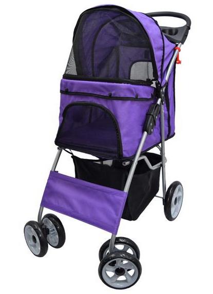 STROLRV001P Purple Four Wheel Pet Stroller Dog stroller