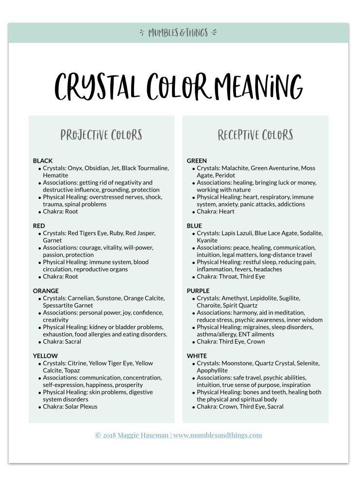 Crystals and Color — Mumbles & Things #crystalhealing