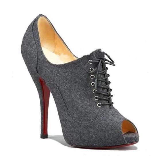 Get the must-have pumps of this season! These Christian Louboutin Lady  Derby 120 Lace Up Ankle Booties Eu 37 Us Grey Pumps are a top 10 member  favorite on ...