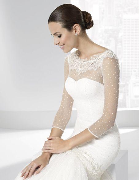 vestidos de novia línea sirena en tul plumeti y doble falda