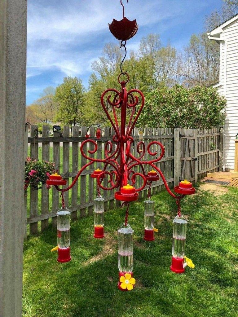 39 Awesome Diy Chandelier Hummingbird Feeder Ideas Humming Bird Feeders Whimsical Garden Spring Garden