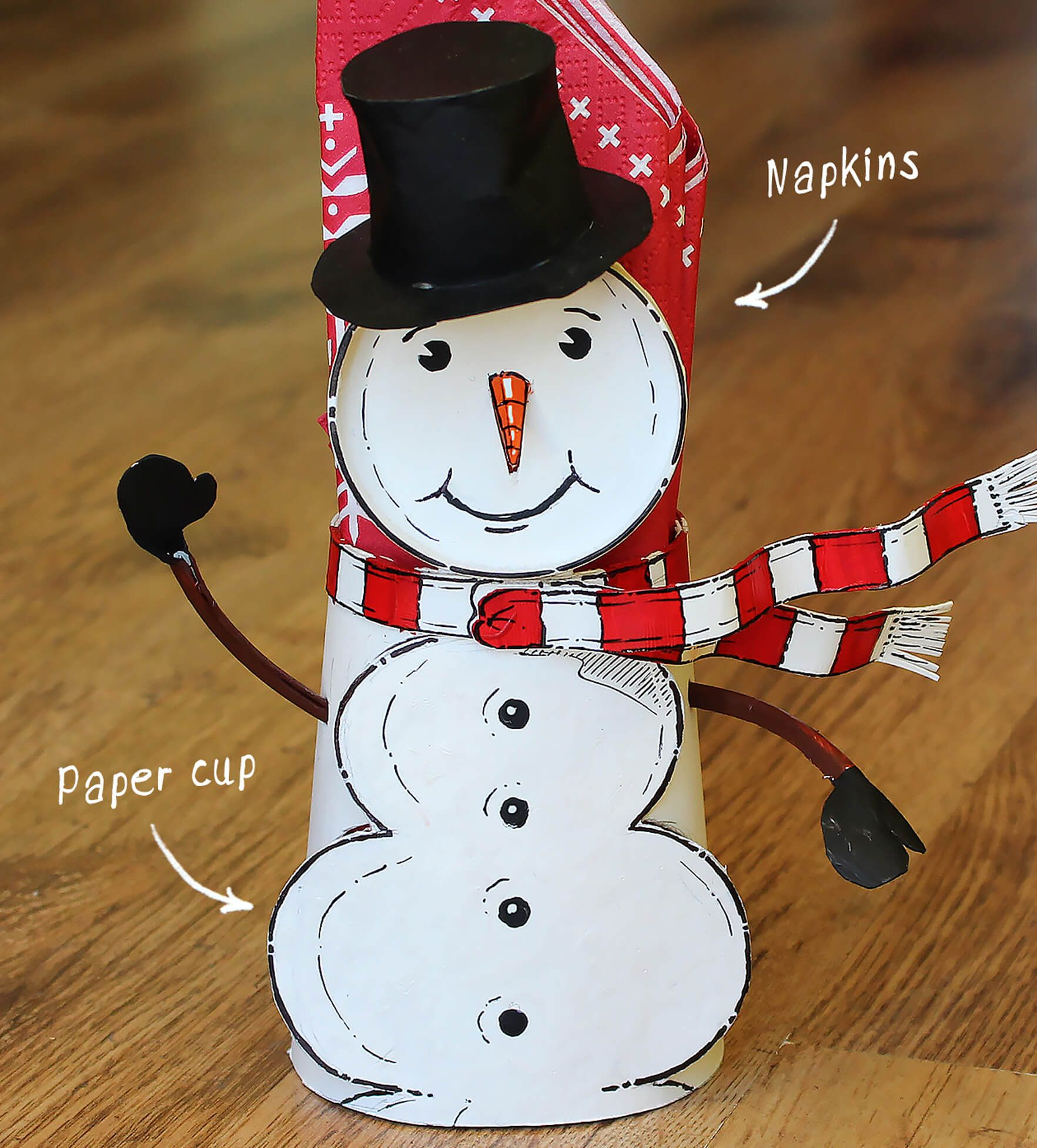 Learn How To Make A Snowman Napkin Holder From Two