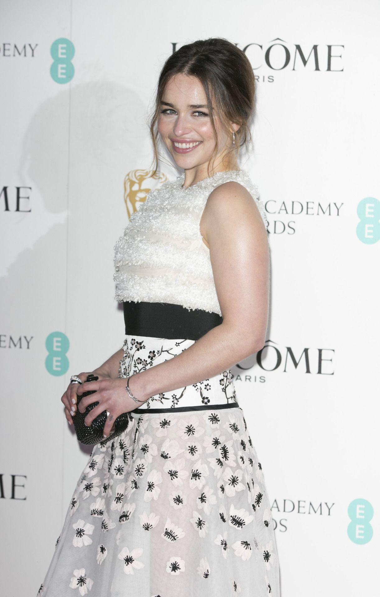 Emilia Clarke at the Lancome BAFTA nominees party, London (13 February, 2016)