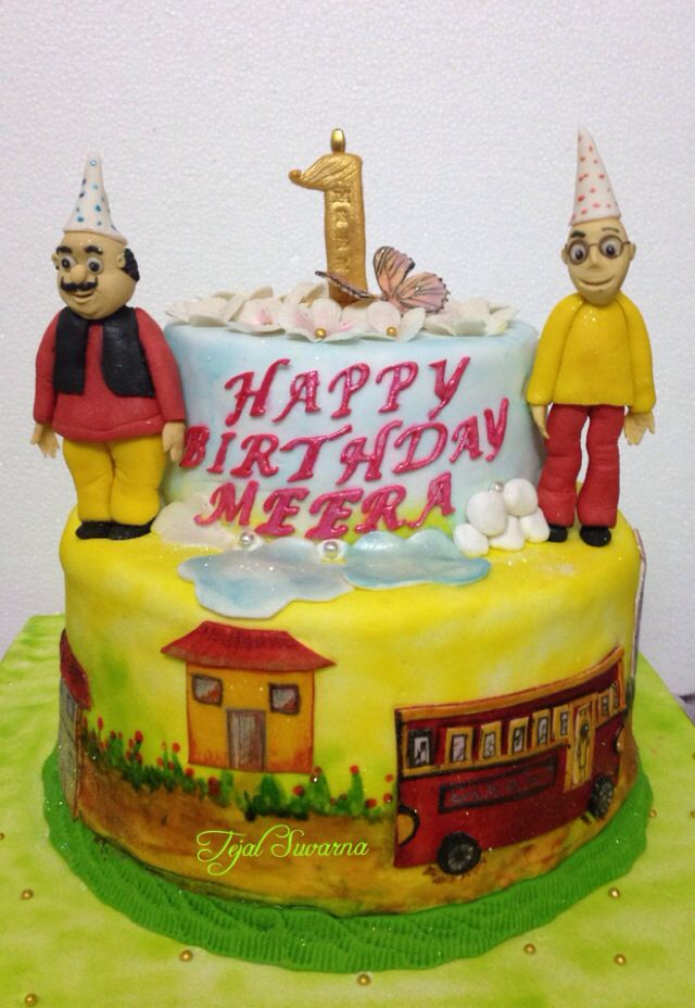 Cake Of Motu Patlu : Motu patlu cake Tejals cakes @Happy Chef cooking ...