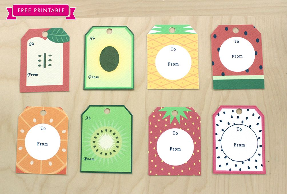 Free Printable: Fruit Tags and Wrapping