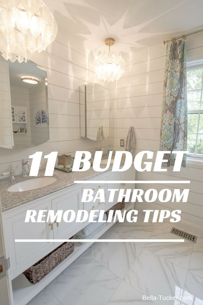 Budget Bathroom Remodel Bathroom remodeling, Shiplap siding and