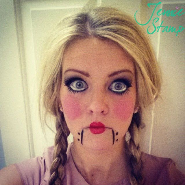 Halloween Doll Makeup Tutorial | Pretty. | Pinterest | Big eyes ...