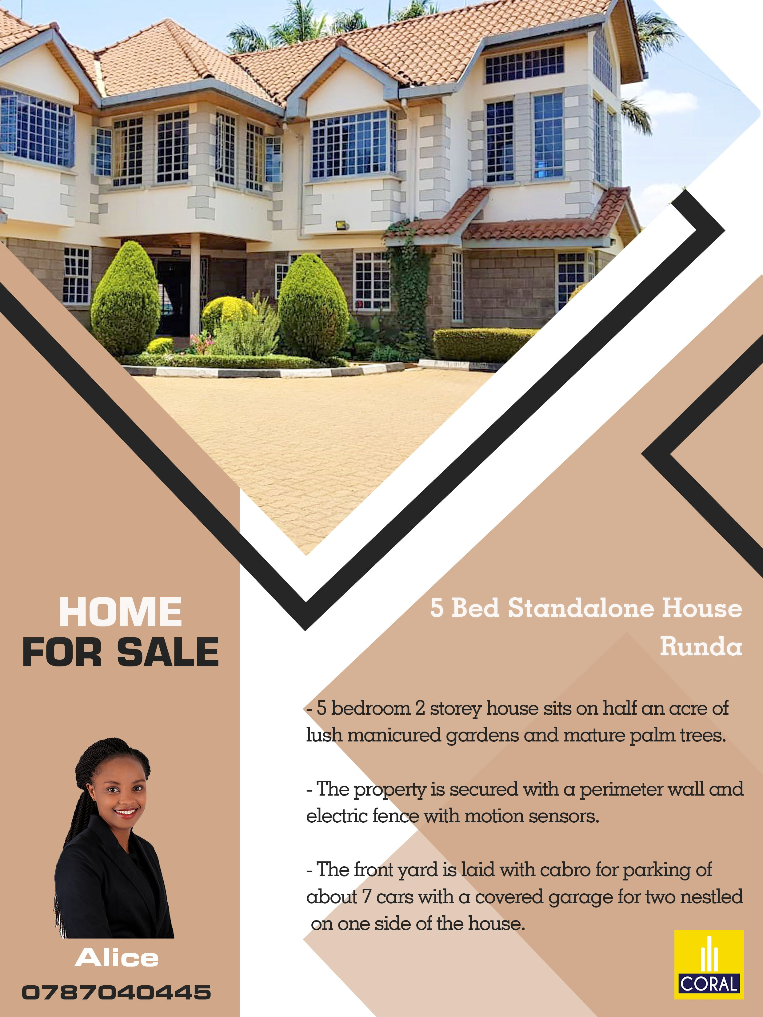 5 Bedroom Standalone House For Sale In Runda Blue Bell
