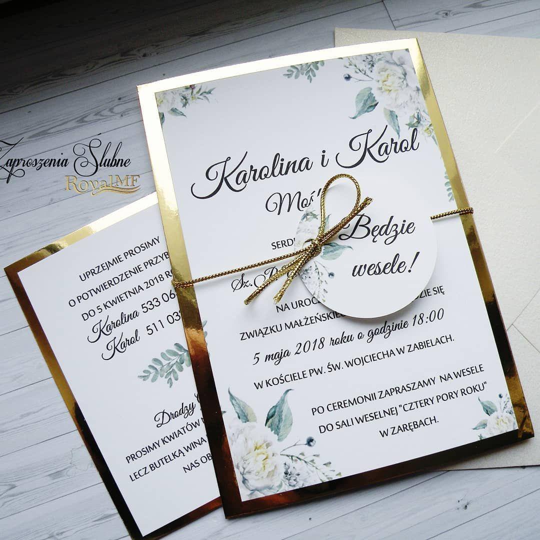 Polubienia 31 Komentarze 4 Zaproszenia Slubne Royal Mf Zaproszeniaroyalmf Na Instagramie Bi Wedding Invitation Design Wedding Invitations Diy Wedding