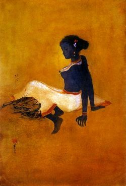 Abanindranath tagore_The Black Girl | pre-modern India