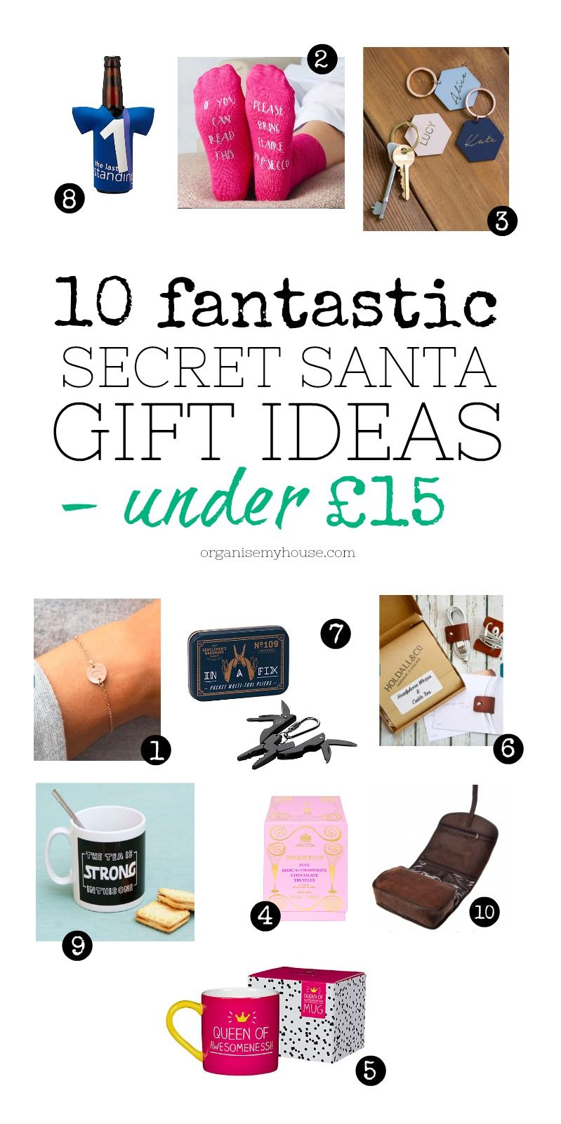 Amazing Christmas Gift Ideas For Secret Santa Budget All Under 15 And Includes Both Men Women What Will You Get